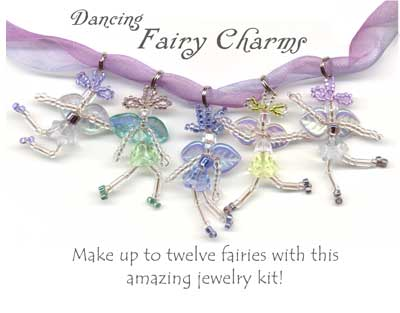 Dancing fairy charms jewelry making kit mozeypictures Images